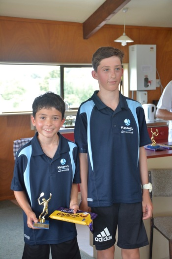 Winner Runner Up Boys Primary Singles 17:18