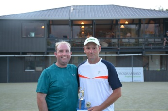 Winner - Runner Up Mens Open Singles 17:18