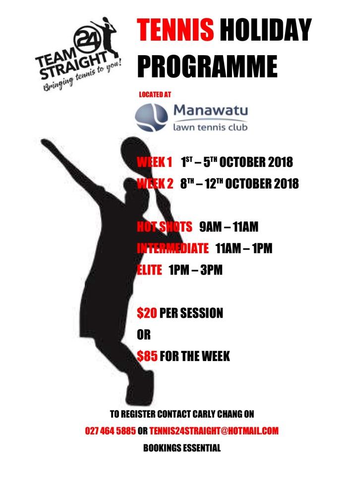 Tennis Holiday Programme 1 - 12 October 2018 JPG