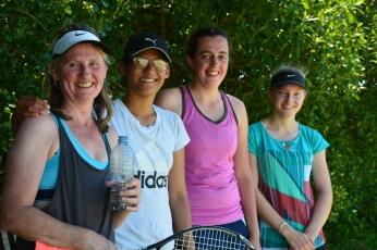 Lyn Biel, Caroline Liwon, Jennifer Green, Hannah Sutherland-Smith